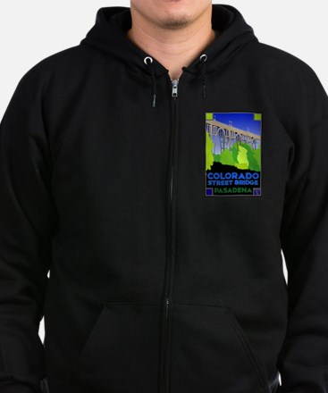 Colorado Street Bridge Zip Hoodie (dark)