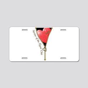 Zipper Design 2 Aluminum License Plate