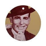 Bob Wills Classic Ornament (Round)