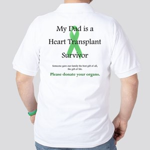 Dad Heart Transplant Golf Shirt