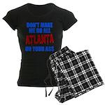 Atlanta Baseball Women's Dark Pajamas