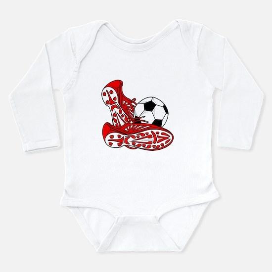 Funny World soccer Long Sleeve Infant Bodysuit