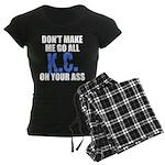 Kansas City Baseball Women's Dark Pajamas