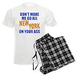 New York Baseball Men's Light Pajamas