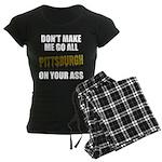 Pittsburgh Baseball Women's Dark Pajamas