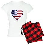 American Flag Heart Women's Light Pajamas