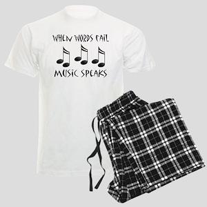 Words Fail Music Speaks Men's Light Pajamas