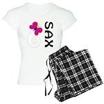Fun Sax Butterfly Women's Light Pajamas