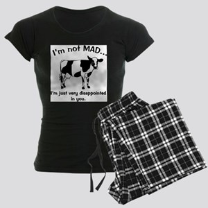 Cow Not Mad, Just Disappointe Women's Dark Pajamas