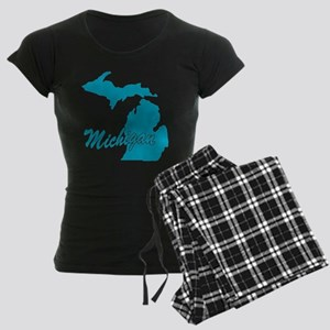 State Michigan Women's Dark Pajamas