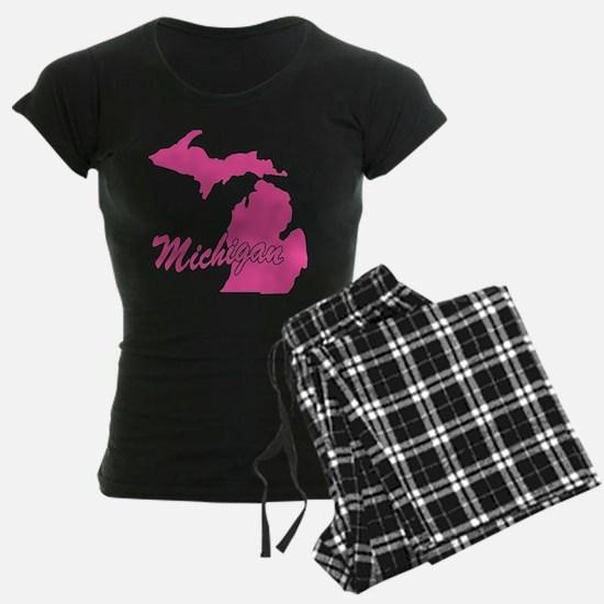 Pink Michigan Pajamas