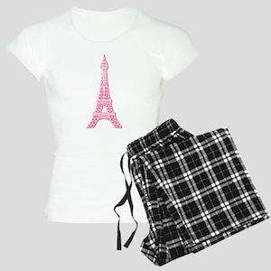 Pink Eiffel Tower Women's Light Pajamas