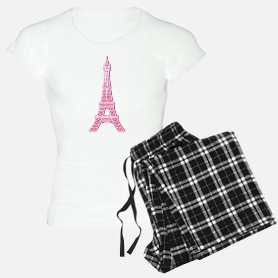 Pink Eiffel Tower Pajamas