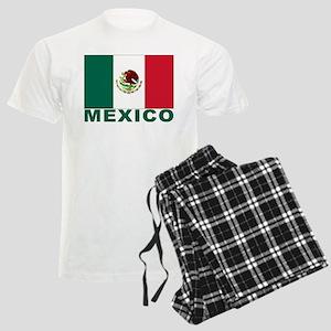 Mexico Flag Men's Light Pajamas
