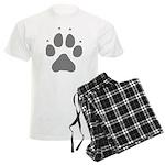 Wolf Paw Print Men's Light Pajamas