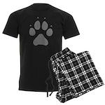Wolf Paw Print Men's Dark Pajamas