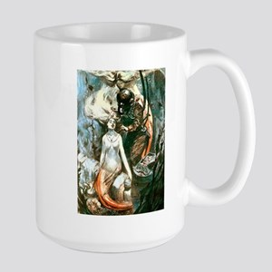 Diver and the Mermaids Large Mug