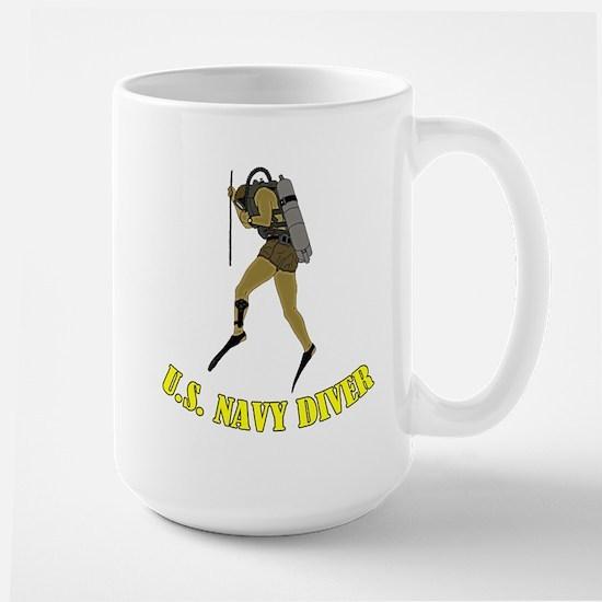 Navy SCUBA Diver Large Mug