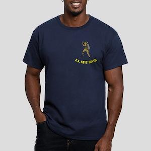 Navy SCUBA Diver Men's Fitted T-Shirt (dark)