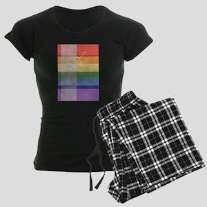 Mod Rainbow Love Women's Dark Pajamas