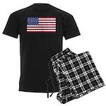 American Flag Men's Dark Pajamas