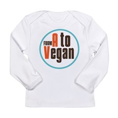 From A to Vegan Long Sleeve Infant T-Shirt