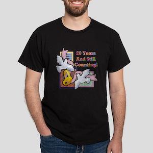 20th Wedding Anniversary Dark T-Shirt