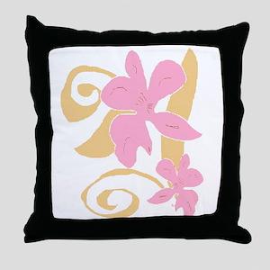 3 orchids Throw Pillow