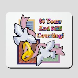 30th Wedding Anniversary Mousepad