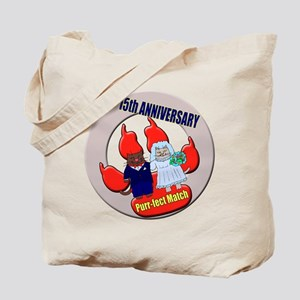 15th Wedding Anniversary Tote Bag