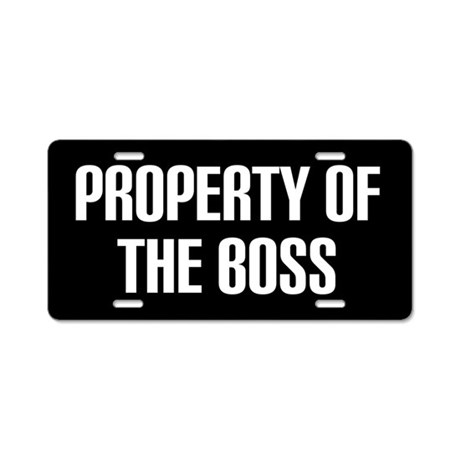 Property Of The Boss License Plate