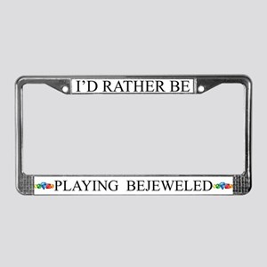 White I'd Rather Be Playing Bejeweled Frame