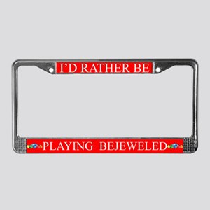 Red I'd Rather Be Playing Bejeweled Frame