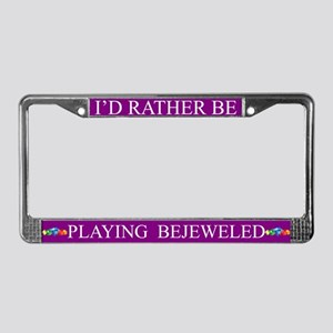 Purple I'd Rather Be Playing Bejeweled Frame