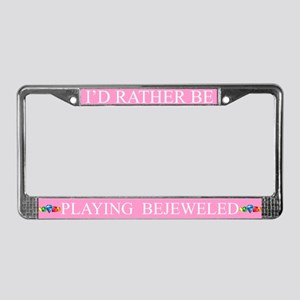 Pink I'd Rather Be Playing Bejeweled Frame