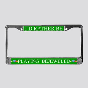 Green I'd Rather Be Playing Bejeweled Frame