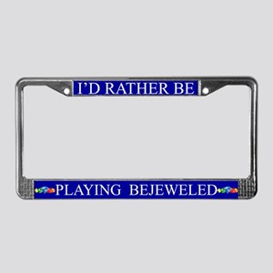 Blue I'd Rather Be Playing Bejeweled Frame