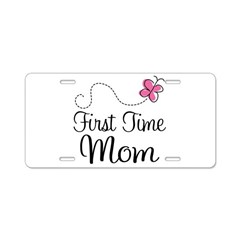 First Time Mom Butterfly License Plate