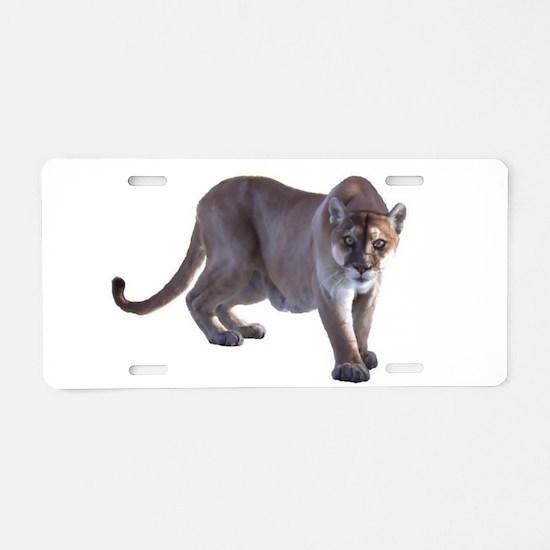 Stalking Cougar Aluminum License Plate