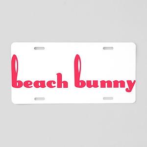 Beach Bunny Aluminum License Plate