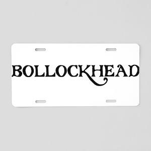 Bollockhead Aluminum License Plate