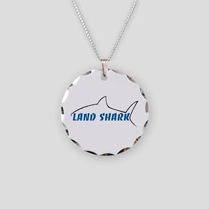 Land Shark Necklace Circle Charm