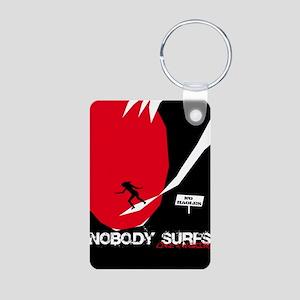 Nobody Surfs Like a Wahine Aluminum Photo Keychain