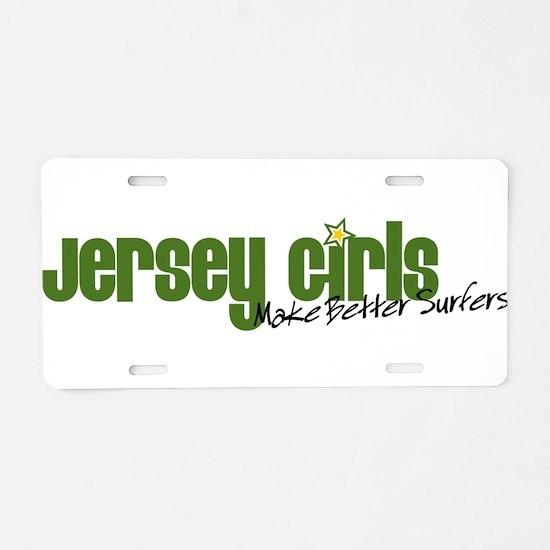 Jersey Girls Aluminum License Plate