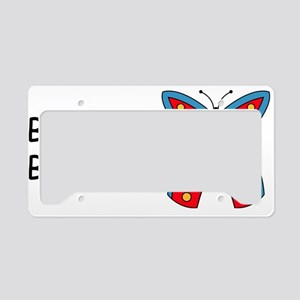 B is for Butterfly License Plate Holder