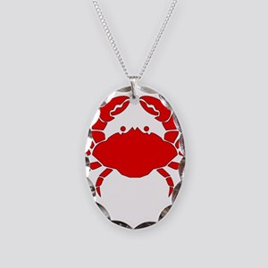 C is for Crab Necklace Oval Charm