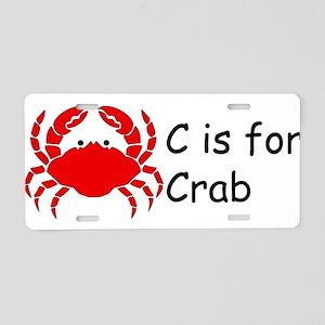 C is for Crab Aluminum License Plate