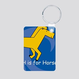 H is for Horse Aluminum Photo Keychain