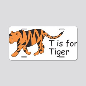 T is for Tiger Aluminum License Plate