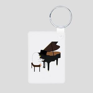Concert Pianist Aluminum Photo Keychain
